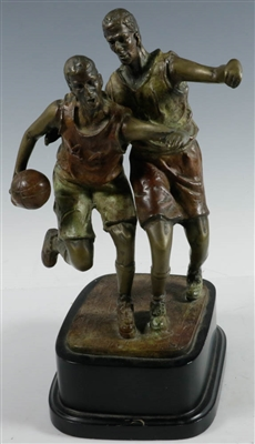 20thC Bronze of Two Basketball Players