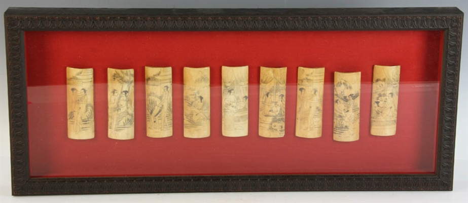 19thC Japanese Erotica Bone Carvings
