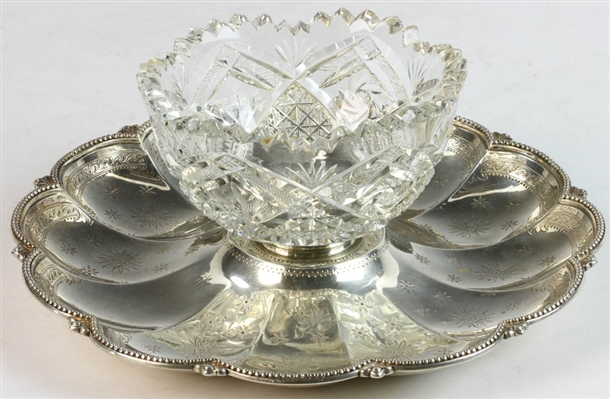 Antique English Sterling Silver Center Bowl