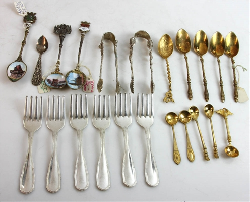 Collection of Antique Souvenir Spoons