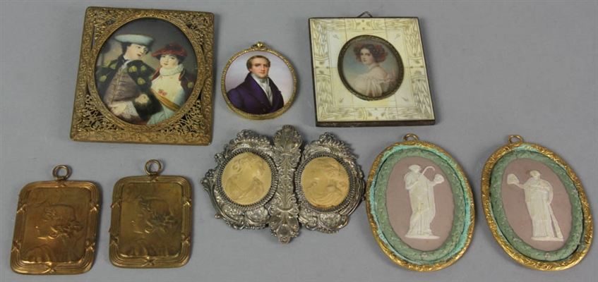 Collection of Eight 19thC Miniatures