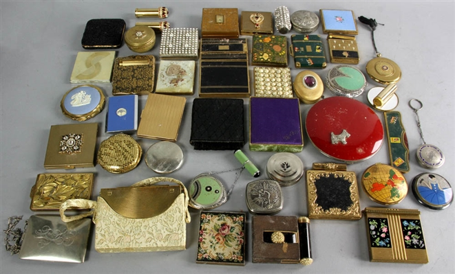 Collection of Early 1900s Ladies Compacts