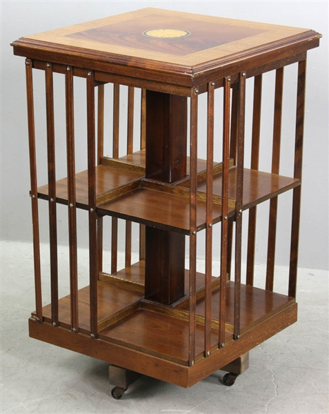 Early 20thC Barrister Revolving Bookcase