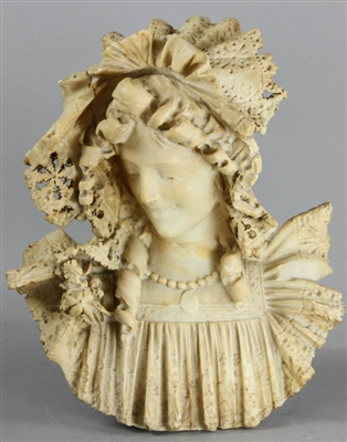 Italian Alabaster Bust of Lady