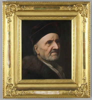 KPM Porcelain Plaque Rembrandts Father