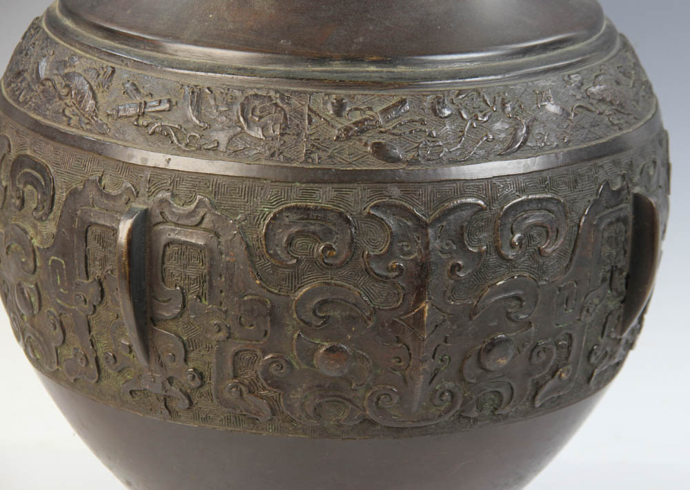 Lot Detail 19thc Chinese Bronze Zun Vase