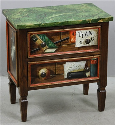 Diminutive Chest with Faux Marble Top