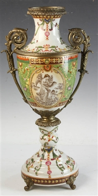 Early 20thC European Urn with Ormolu