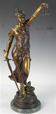 Alois Mayer Bronze Sculpture Blind Justice