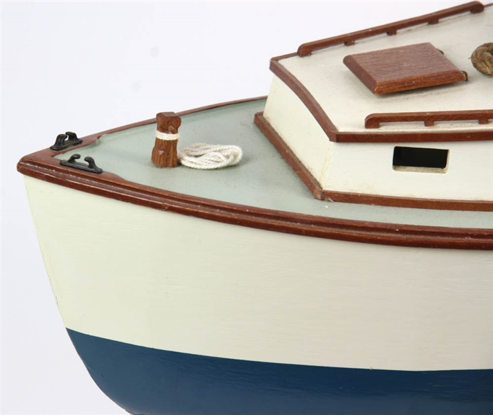 Wood Model of Lobster Boat