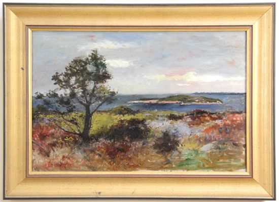 View of Annisquam, Oil on Canvas