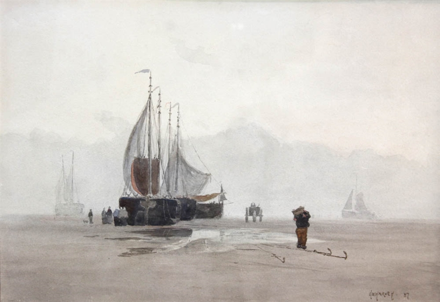 George W Harvey, Fishing Boats, Haarlem