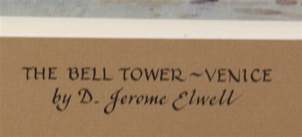 D Jerome Elwell, Bell Tower, Venice