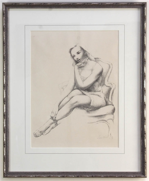 Leon Kroll, Monique, Lithograph