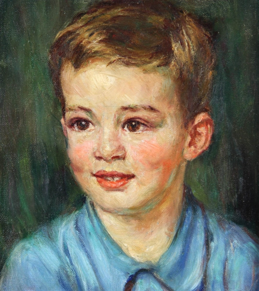 Alice Beach Winter, Portrait of Young Boy