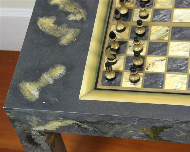 Joan Bedz, Painted Table with Game Board