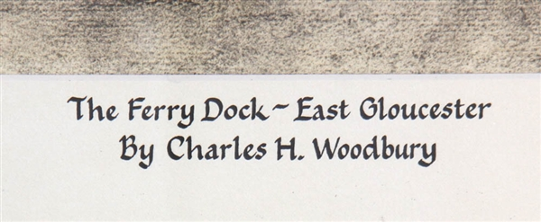 Charles Woodbury, Ferry Dock Gloucester