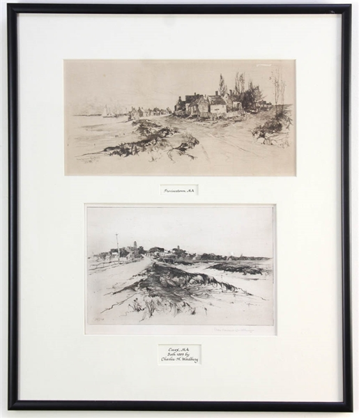 Charles Woodbury, Two Ink Sketches