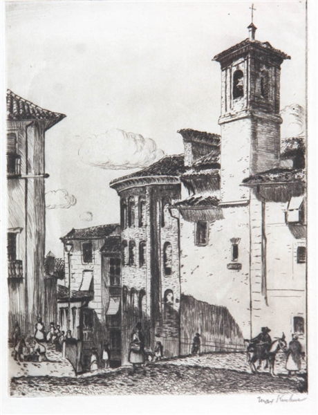 Max Kuehne, Group of Three Etchings