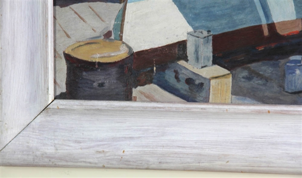 Painting the Hull, Oil on Artist Board