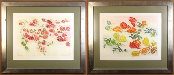 Chaet Prints of Watercolors, Pears, Strawberries