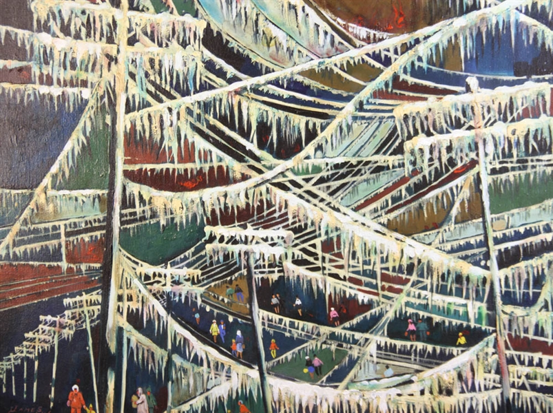 James Carlin, Ice Storm, Oil on Board