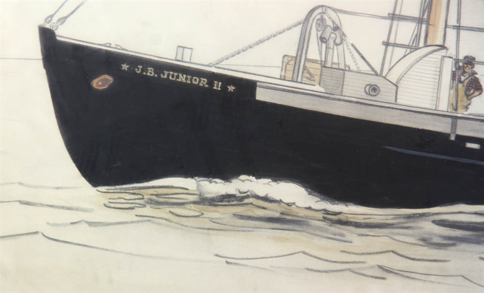 L O'Toole, Two Ship Paintings