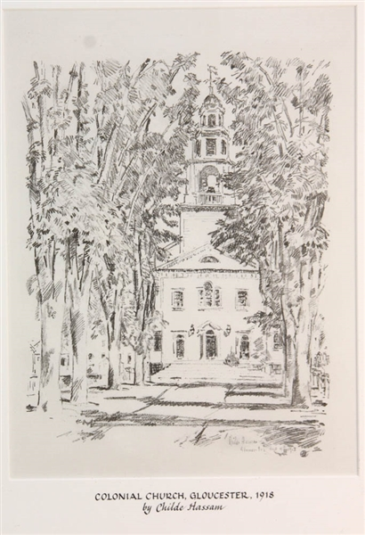 Childe Hassam, Colonial Church Gloucester