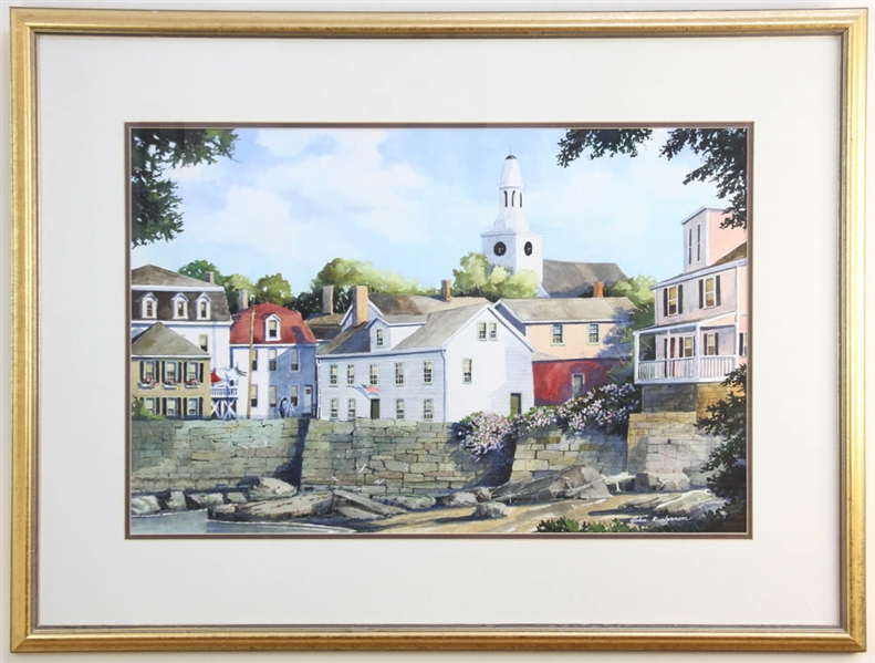 John R Swanson, Rockport, Watercolor