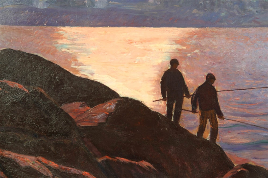 Gifford Beal, Fishing at Dusk