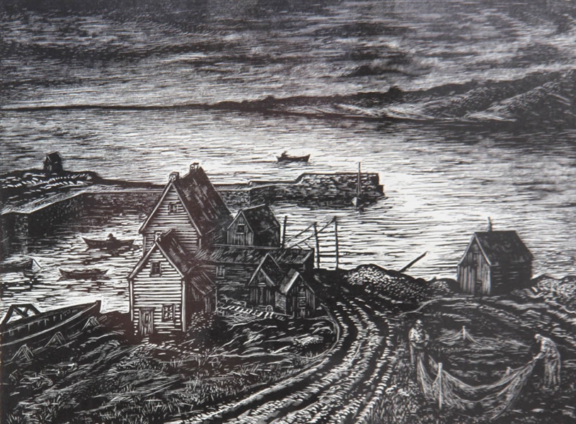 Harry Shokler, Pigeon Cove, Etching