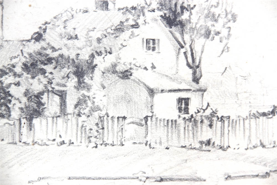MT Sacks, Rockport, Pencil Sketch