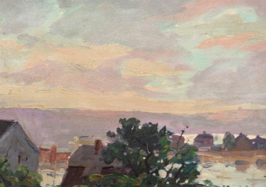 Jacob Greenleaf, Sunset, Oil on Board
