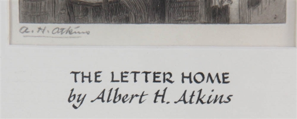 Albert Atkins, The Letter Home, Print