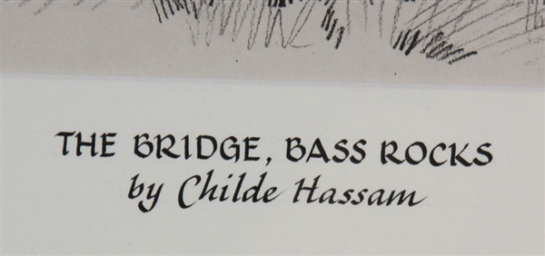 Childe Hassam, The Bridge, Bass Rocks