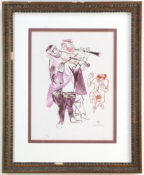 G Robler, Fiddler on the Roof, Colored Print