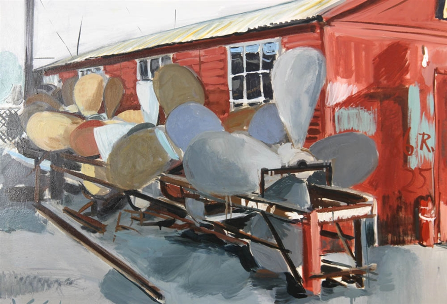 Ann Campbell, Propellers, Oil on Canvas