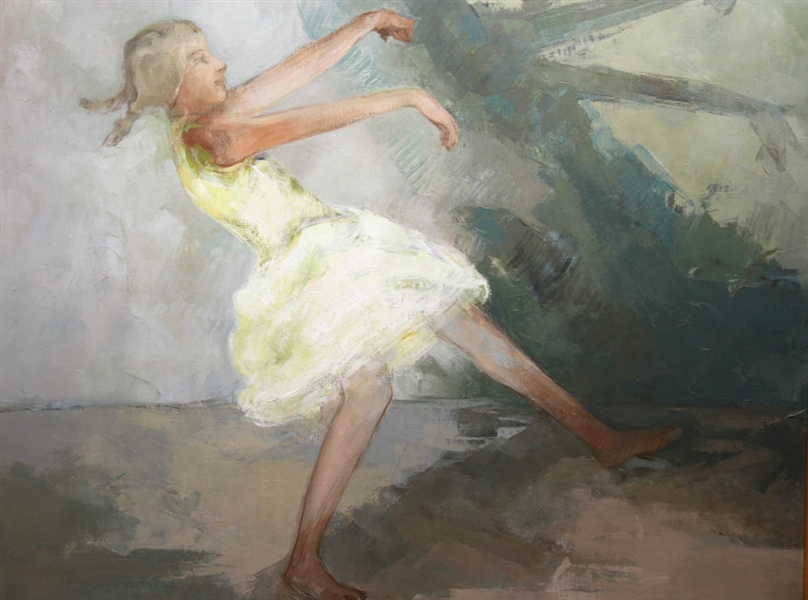 Joseph Jeswald, Dancer, Oil on Canvas