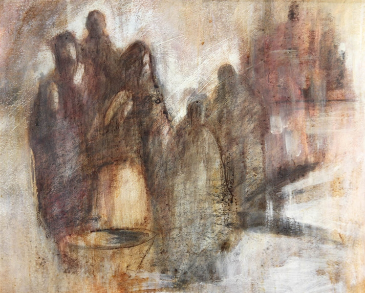 Constantine Arvanites, Figures, Watercolor