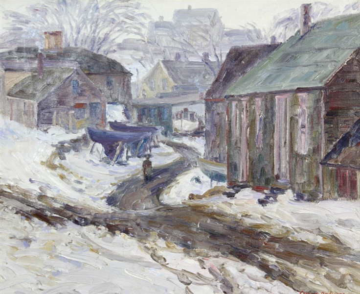 Oscar Anderson, Winter in East Gloucester