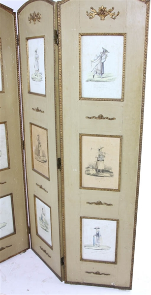 Four Panel Screen with Lithos