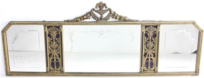 Over-Mantel Mirror with Engraving
