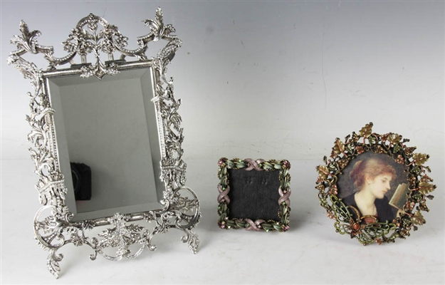 Group of (3) Decorative Frames and Mirror