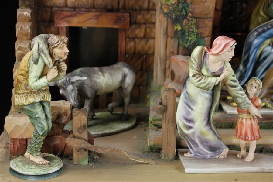 Twelve Piece A. Borsato Porcelain Nativity Set