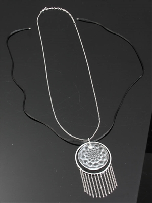 Lalique Cactus Glass Necklace with Chain