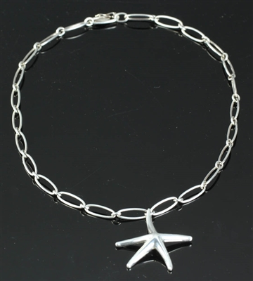 Tiffany Elsa Peretti Sterling Starfish Necklace