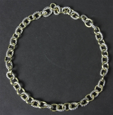 David Yurman 18k and Sterling Necklace