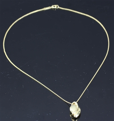 Tiffany Elsa Peretti 18k Mango Pendant Necklace