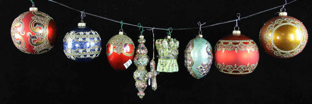 Lot Detail Jay Strongwater Christmas Ornaments