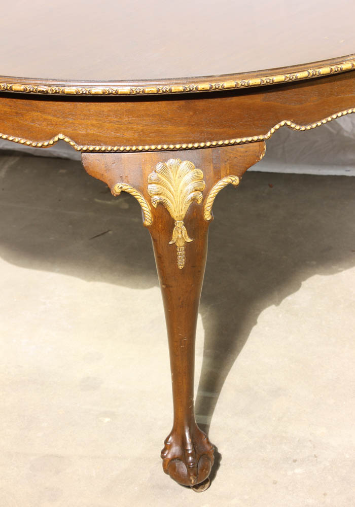Lot Detail Mahogany Dining Table With Ball And Claw Feet